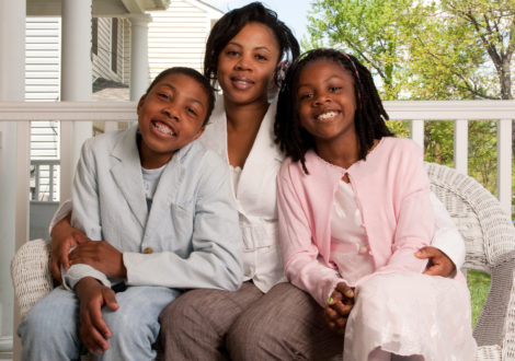 DC Habitat Homeowner Marriama and her children.