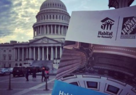 A Habitat on the Hill program in front of the U.S. Capitol