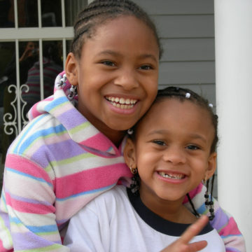 Children at a DC Habitat Home Dedication